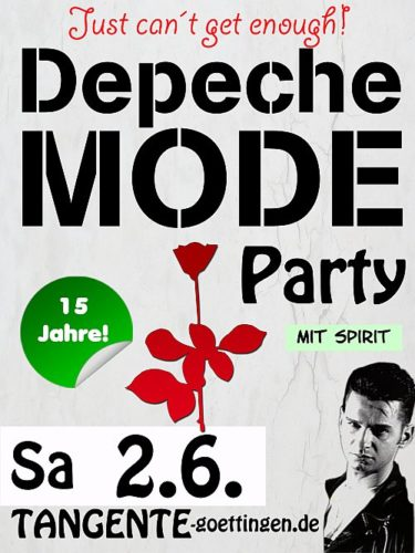 Jubiläum: Depeche Mode Party Göttingen - promo