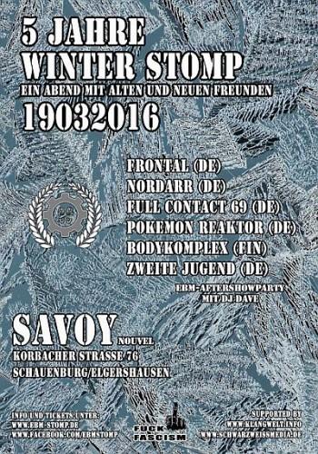 Flyer - 5 Jahre EBM Winter Stomp