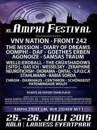 Amphi Festival 2015 - die Bands - das Programm