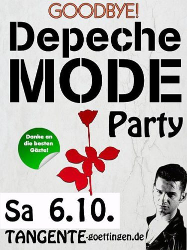 Flyer: Depeche Mode Party Abscheid Tangente
