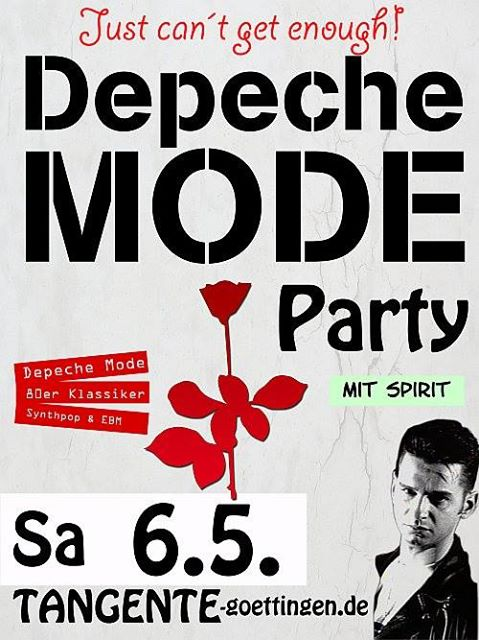 Flyer: Depeche Mode Party mit Spirit