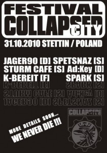 collapsed city festival flyer