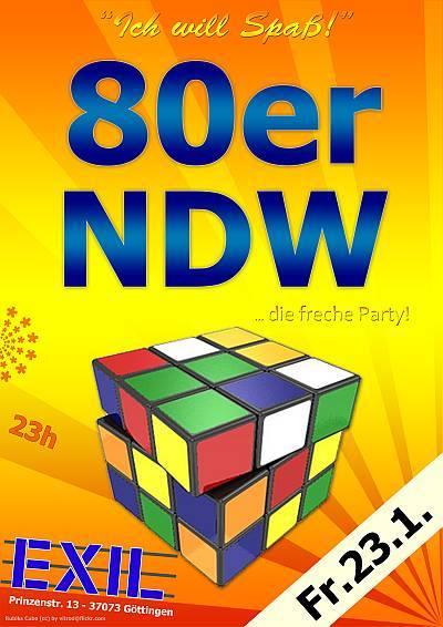 80er & NDW Party Flyer