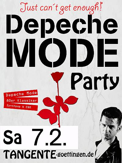 Depeche Mode Party Flyer 2015
