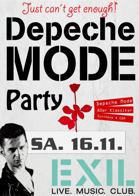 Flyer- Depeche Mode Party im  November 2019