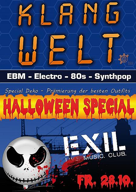 Flyer: Klangwelt und Halloween Party