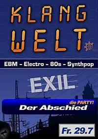 Flyer - letzte Klangwelt Party in der Prinzenstraße