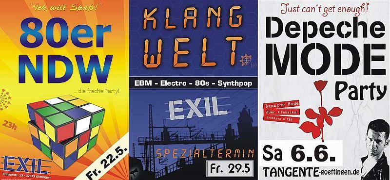 Drei Partys in Göttingen - Mai/Juni 2015